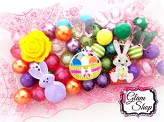 Easter Bead Kit DIY Chunky Bead Necklace Kit by GlamShopBeads