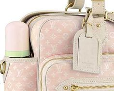 louis vuitton monogram mini lin diaper bag pink de45a3da79260