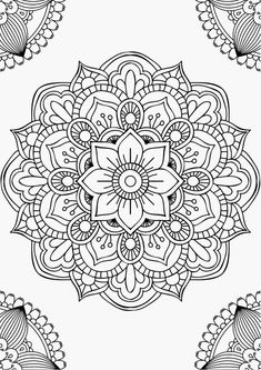 Mandala fleur simple unique doodle art doodle it. Mandala Art, Mandala Design, Mandalas Painting, Mandalas Drawing, Mandala Coloring Pages, Mandala Pattern, Zentangle Patterns, Dot Painting, Mandala Tattoo