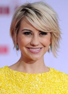Cute Short Hairstyle with Long Side Swept Bangs