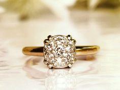 $1245 Vintage Engagement Ring 0.40ctw Diamond by LadyRoseVintageJewel