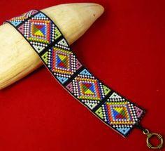 Diamond Rainbow Bracele Pattern by Beadbrickie AKA Mareta Pascoe at Bead-Patterns.com