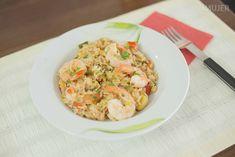 Cómo hacer arroz con camarones
