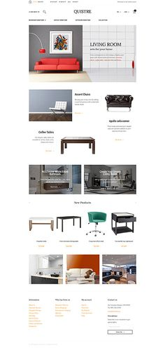 outstanding interior website. A hand picked more than 20 most outstanding Interior  Furniture Magento themes 2016 for starting your own and shops online Modus eCommerce PSD Template Psd templates Website
