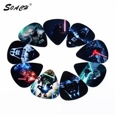 SOACH 10pcs/Lot 0.71mm thicknessHot Star Wars guitar picks high-quality multi pattern guitar strap guitar parts