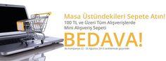 Masanızın üstündekileri sepetleyin. ofix.com'dan mini alışveriş sepeti BEDAVA.