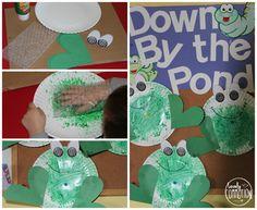 Preschool Activities Frog Theme Ideas for PreschoolFrog Theme Ideas for Preschool Frog Activities, Preschool Craft Activities, April Preschool, Preschool Projects, Daycare Crafts, Spring Activities, Preschool Classroom, Preschool Activities, Classroom Ideas