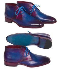 Paul Parkman Men's Chukka Boots Blue & Purple   Website : www.paulparkman.com  #paulparkman #paulparkmanshoes #leatherboots #mensboots #mensdressboots #handmade #bespoke #luxury #shoemaker #handcrafted #shoesformen #mensshoes #handmadeshoes #handcraftedshoes #patinashoes #bespokeshoes #customshoes #luxuryshoes #luxuryshoemaker #bespokeshoemaker #mensluxuryshoes #luxurymenswear