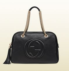 A bag with a zipper!  Gucci - soho leather chain shoulder bag 353126A7M0G6523