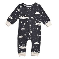 20518388cbc1 French Terry Jumpsuit - Outer Space Charcoal - It s never too early to  inspire your little