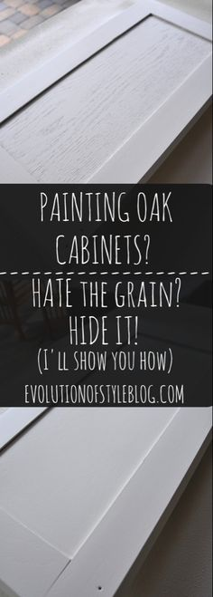 Kitchen Cabinets How to hide the grain when painting oak cabinets - Are you wanting to refresh your dated oak cabinets with paint? Here are some great tips tricks for painting oak cabinets and giving them a new look! Oak Kitchen Cabinets, Built In Cabinets, Kitchen Paint, Kitchen Redo, Wood Cabinets, New Kitchen, Kitchen Ideas, Kitchen Designs, Kitchen Makeovers