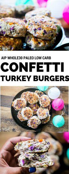 Confetti Turkey Burgers | Castaway Kitchen