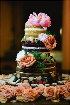#nakedcake #weddingcake wedding chicks