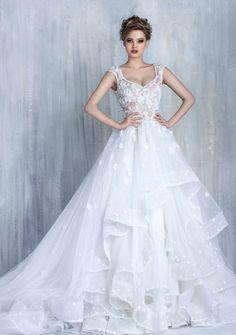 Featured Wedding Dress:Tony Chaaya Couture;www.tonychaaya.com; Wedding dress idea.