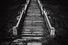 Black and white image of an old church staircase. Free art print of Old church staircase. Black And White Stairs, Painted Staircases, Free Art Prints, Stairway To Heaven, White Image, Photo Black, Stairways, Black And White Photography, Images