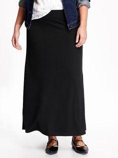 Knit Maxi Plus Size Skirt