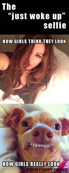 "The ""Just Woke Up"" Selfie. #funny #lol #meme"