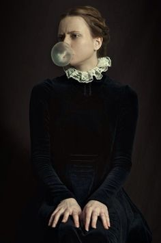 "Romina Ressia, With ""fresh air to the classical style"" #bubblegum #chewinggum #gum #art #women #buenosaires"