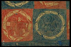 Felted embroidery from 13th century