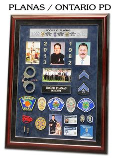 police retirement shadow box | Projects I made | Pinterest ...