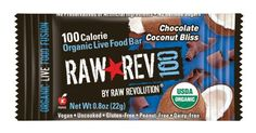 Raw Rev 100 Chocolate  Coconut 100 Calorie Organic Live Food Bar 08Ounce Bars Pack of 26 * Check out this great product.Note:It is affiliate link to Amazon.