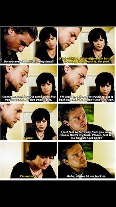 Heartbreaking...Do you ever regret it? ... Jax & Tara sons of anarchy