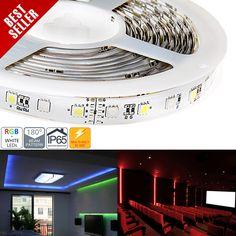 High Power RGBW LED Weatherproof Flexible Light Strip - RGB+White LED Strip
