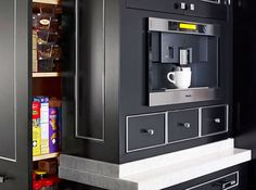 Coffee nook on pinterest coffee stations built in coffee maker and