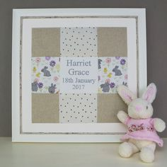 Bunny Name and Date Picture Bunny Names, Print Pictures, Frame, Prints, Home Decor, Room Decor, Frames, A Frame, Home Interior Design