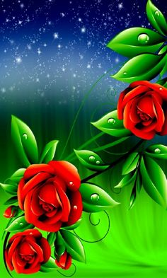 By Artist Unknown. Blue Flower Wallpaper, Butterfly Wallpaper, Colorful Wallpaper, Galaxy Wallpaper, Wallpaper Backgrounds, Beautiful Flowers Wallpapers, Pretty Wallpapers, Beautiful Roses, Cellphone Wallpaper