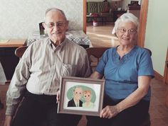 My adorable grandparents and their portrait  by breakfastjones