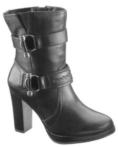 Ladies Motorcycle Footwear - Harley Davidson - Marissa Platform Boot - The Stagecoach West Sexy Boots, Cool Boots, Black Boots, Stylish Boots, Harley Boots, Harley Gear, Womens Cowgirl Boots, Biker Wear, Ankle Boots