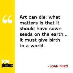 Joan Miró on art, stillness, and the proper pace of creative labor – the most direct and comprehensive record of the great painter's philosophy.