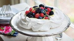 MayPavlova With Lemon Cream and Berries