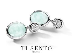 Complete your spring look with this subtle combination of silver and soft greens. Ti Sento - available at Daniel Jewelers, Brewster New York