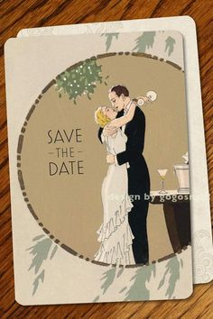 Possibly some of the most awesome art deco wedding invitation suites that I've found... by GoGo Snap on Etsy (http://www.etsy.com/shop/GoGoSnap)