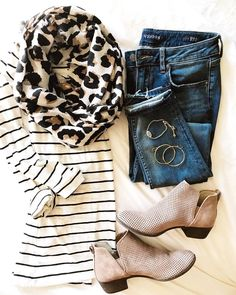 Fall Staples - leopard print and stripes