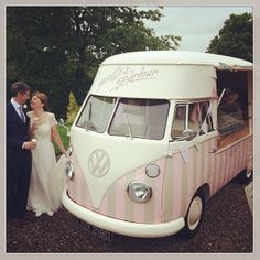 Florence our vintage ice cream van perfect at any wedding.... ♡ #icecreamvan http://www.pollys-parlour.co.uk/