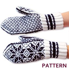 Mittens in Norwegian Selbu pattern hand knit from merino wool! Selbu gloves, handmade, warm winter mittens - - Mittens in Norwegian Selbu pattern hand knit from merino wool! Knitted Mittens Pattern, Crochet Mittens, Crochet Pattern, Free Pattern, Knitting Patterns, Knit Crochet, Sweater Mittens, Knitting Stitches, Double Knitting