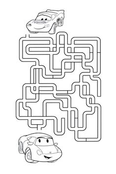disney mazes ms - Disney Cars Activities