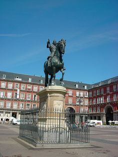 PLAZA MAJOR, Madrid, Spain - One of the city's great meeting places.  Was completed in 1619 and has seen many events happen here over the years.