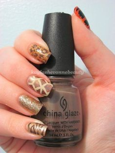 safari wild nail art #nailart