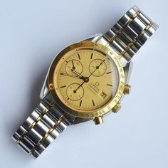 LOT 366: #OMEGA: A good gent's steel and gold Speedmaster Automatic with date aperture and gold mounted thumb piece. Est. £1200 - £1500. Coming up in our #Silver #Jewellery #Toys and #Railwayana #Auction on Thursday 25th May. To include #Watches #Collectables #Pictures #China & #Antique #Furniture #May25 #whittonsauctions #Honiton #pin #twitter
