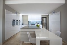Another angle, a different light... Mocha and Pure White Caesarstone at their best...