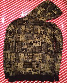 KR3W Hoodie Gold Newspaper Print Mens Size Large   eBay #hoodie #gold #goldclothes #winterfashion #hiphopfashion #cool #iwantthat #style #goldhoodie #hoody #hoodies #hoodys #ebaydeals #ebaysales #unisexclothes #unique #different #bling #alloverprint #doublesided #pattern #newspaperprint #newsprint #shiny #shinyclothes #badass #coolthreads #coolclothes #giftideasforhim #giftideasforher #christmas #winterwear #blackandyellow #blackandgold #hood #gangsta #gangster #triphop Unisex Clothes, Old Clothes, Newspaper Printing, Trip Hop, Hip Hop Fashion, Hoody, Winter Wear, Black N Yellow, Badass