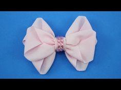 Passo a passo: Laço de fita de gorgurão/ DIY Grosgrain ribbon bow - YouTube
