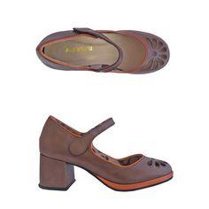 Sapato Florem pinhão/tangerina Comparsaria