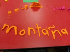 Spelling words with playdough