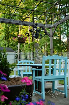 A Little Backyard Sanctuary - Modern Pergola Canopy, Backyard Pergola, Pergola Shade, Diy Patio, Patio Roof, Pergola Cover, Outdoor Rooms, Outdoor Gardens, Outdoor Living