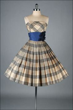 Vintage 1950s Dress  EMMA DOMB  Strapless by millstreetvintage, $345.00